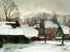 Laren in de sneeuw - collectie Singer